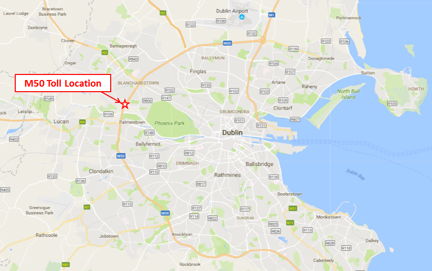 M50 Toll Location