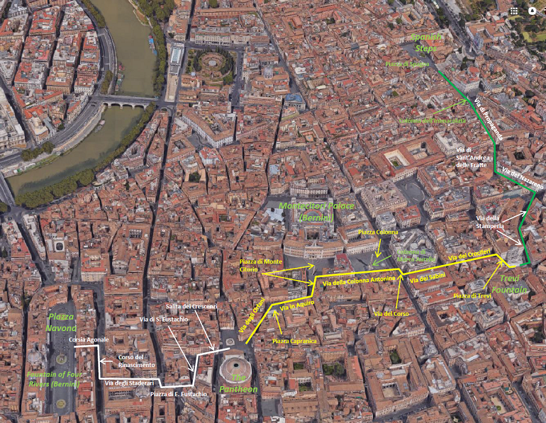 Rome in a day and a half - Walking map