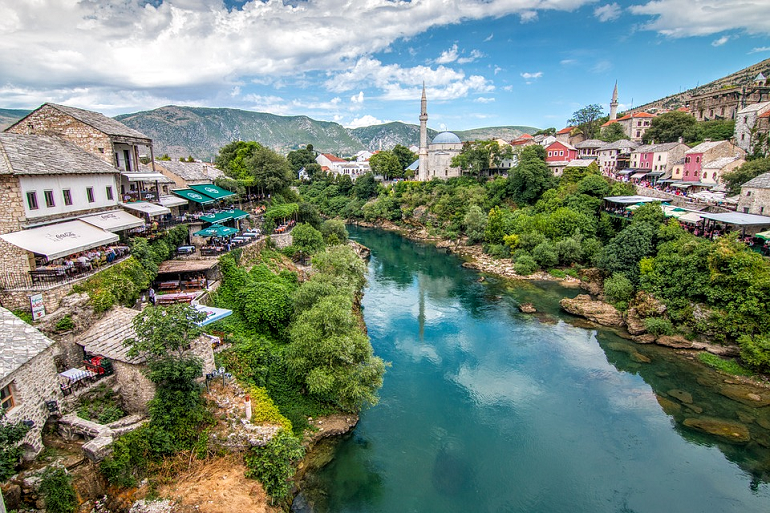 View from Stari Most looking north