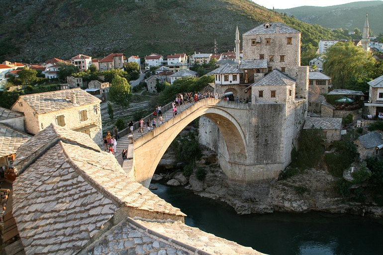 Stari Most as seen rooftop